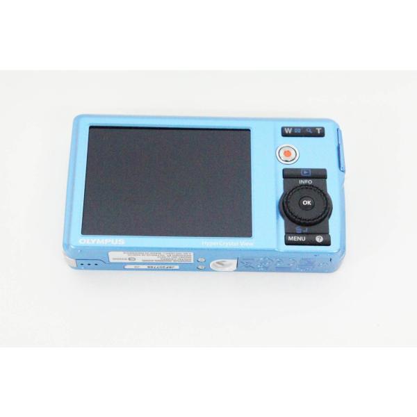 中古 OLYMPUSオリンパス コンパクトデジタルカメラ 1400万画素 μ-5010 μ(ミュー) ライトブルー