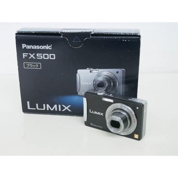 中古 Panasonicパナソニック コンパクトデジタルカメラ LUMIXルミックス 1010万画素 DMC-FX500-K