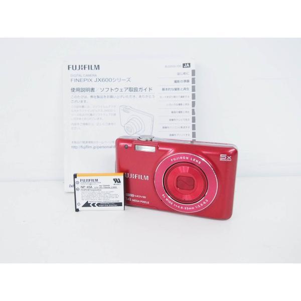 中古 FUJIFILM富士フィルム コンパクトデジタルカメラ FinePixファインピクス 1400万画素 JX600 レッド