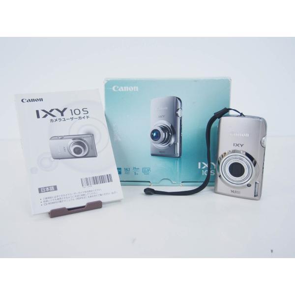 中古 Canonキャノン コンパクトデジタルカメラ IXYイクシー 1410万画素 IXY 10S シルバー