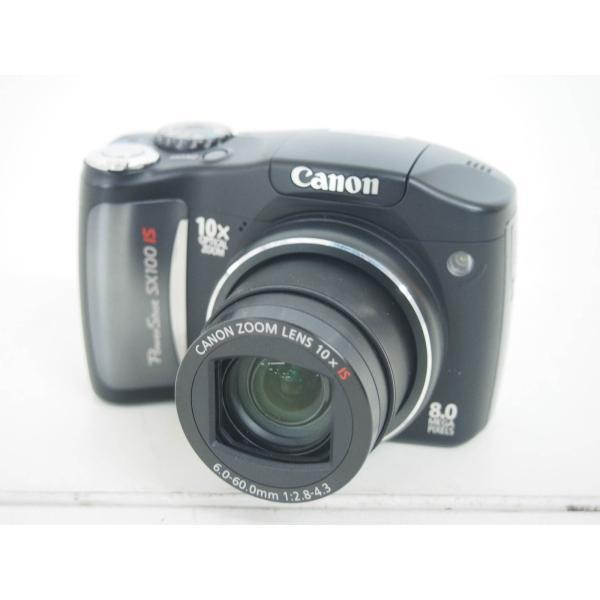 中古 Canonキャノン デジタルカメラ PowerShotパワーショット 800万画素 SX100 IS 光学10倍