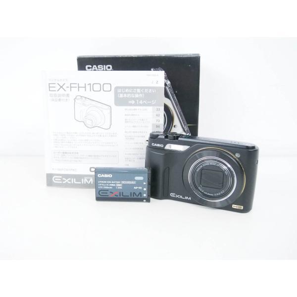 中古 CASIOカシオ コンパクトデジタルカメラ HIGH SPEED EXILIMエクシリム 1010万画素 EX-FH100BK ブラック