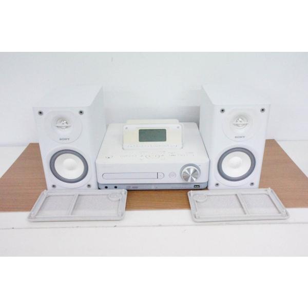 中古 SONYソニー ハードディスクコンポ HDD/CD対応 オーディオ CMT-E350HD W ホワイト HDD160GB