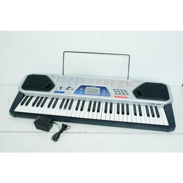 中古 カシオCASIO ベーシックキーボード 電子キーボード 61鍵 CTK-481