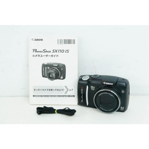 中古 Canonキャノン コンパクトデジタルカメラ PowerShotパワーショット 1030万画素 SX110 IS