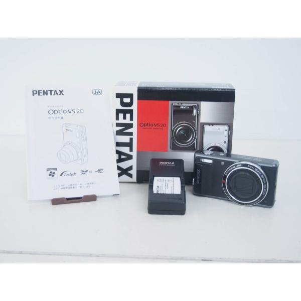 中古 美品 PENTAXペンタックス コンパクトデジタルカメラ Optio VS20 ブラック