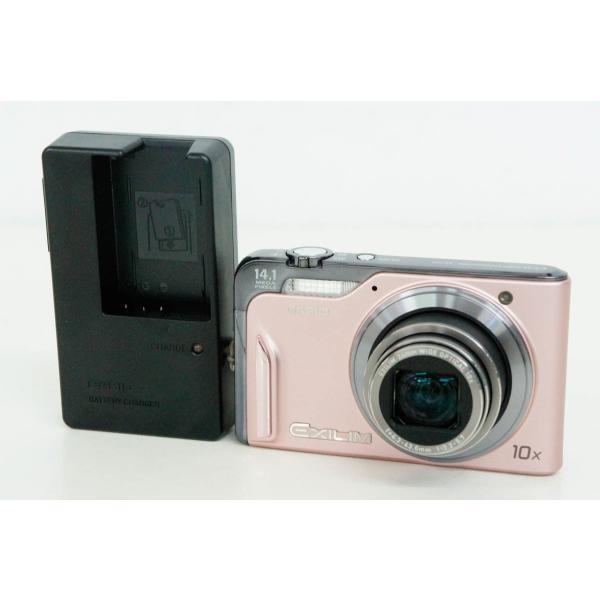 中古 C CASIOカシオ コンパクトデジタルカメラ EXILIM Hi-ZOOM エクシリム 1410万画素 EX-H15PK ピンク
