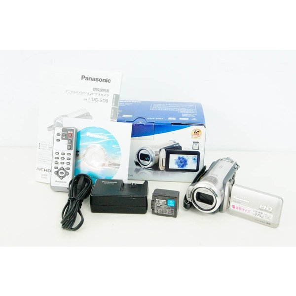 中古 Panasonicパナソニック HDC-SD9 デジタルハイビジョンビデオカメラ シルバー