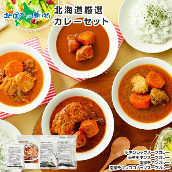 スープカレー レトルトカレー 4食セット 北海道 お取り寄せ ご当地カレー 業務用 グルメ ギフト snowland