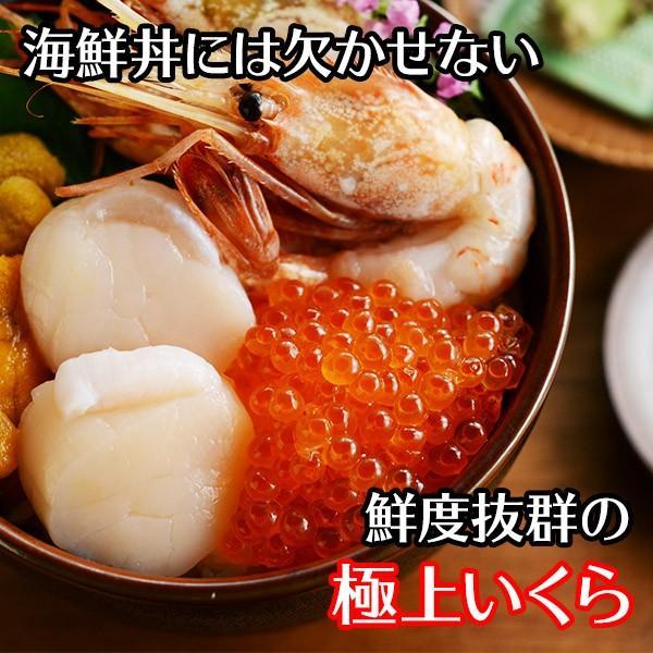 いくら 醤油漬け 200g パック イクラ 北海道産 海鮮 ギフト丼 ギフト グルメ 海鮮|snowland|04