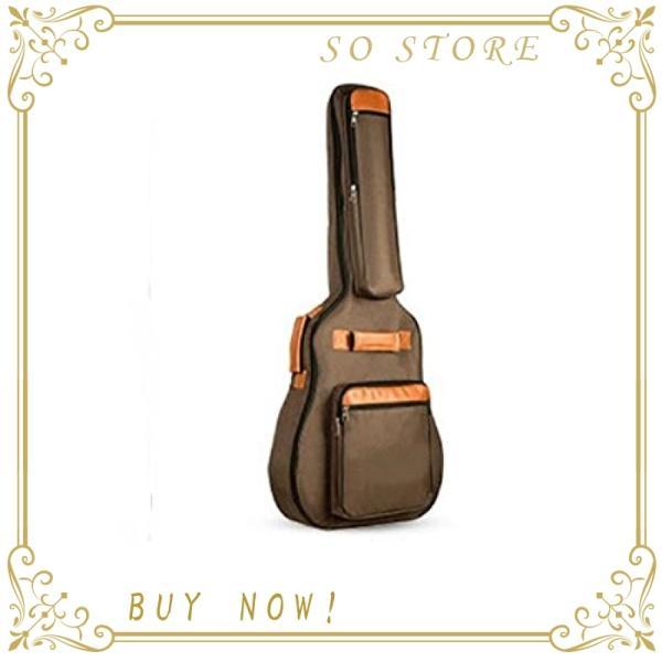 ANRinnvソフトギターケースショルダーリュックタイプギグバッグ(ブラウン)