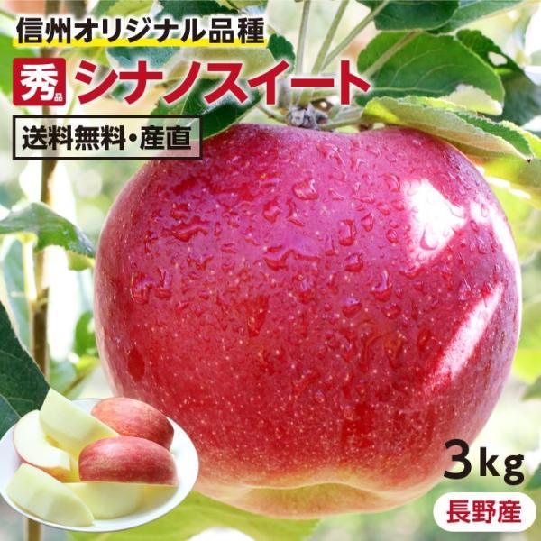 りんご シナノスイート 3kg 秀品 送料無料 長野県産 葉とらずリンゴ 旬の果物 フルーツ 産地直送 お取り寄せ 贈答用 贈り物 ギフト