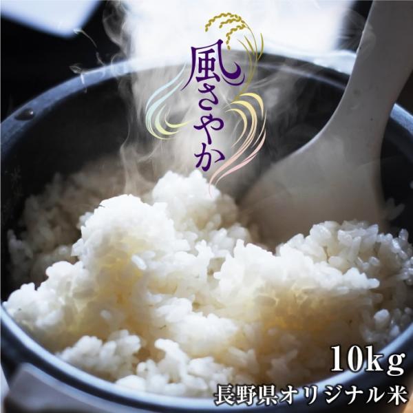 お米 10kg 送料無料 長野県産 風さやか 令和2年度産 精米 クリーン米 ( 無洗米 相当 ) 玄米 長野県オリジナル米   白米 10キロ 米 ブランド米 冷めてもおいしい