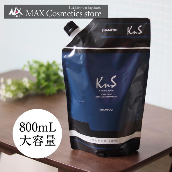 柿のさち 体臭 加齢臭 対策 薬用 柿渋スカルプケアディープクリアシャンプー 詰替パウチ|soapmax