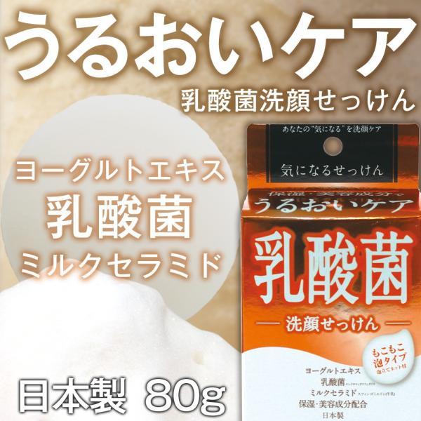 洗顔 せっけん 乳酸菌 石鹸 洗顔石鹸 気になる 石けん 固形 洗顔ネット 泡立てネット ヨーグルトエキス ミルクセラミド ミルキーフローラルの香り