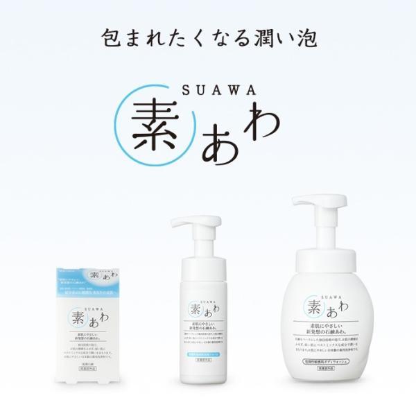 洗顔 泡 フォーム 薬用 素あわ 洗顔フォーム 本体 150mL 顔 泡タイプ 乾燥肌 敏感肌 保湿 潤い うるおう 医薬部外品 soapmax 02