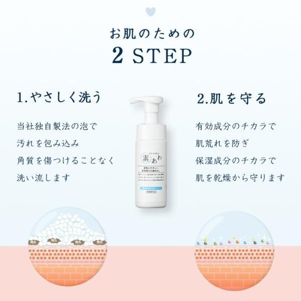 洗顔 泡 フォーム 薬用 素あわ 洗顔フォーム 本体 150mL 顔 泡タイプ 乾燥肌 敏感肌 保湿 潤い うるおう 医薬部外品 soapmax 06