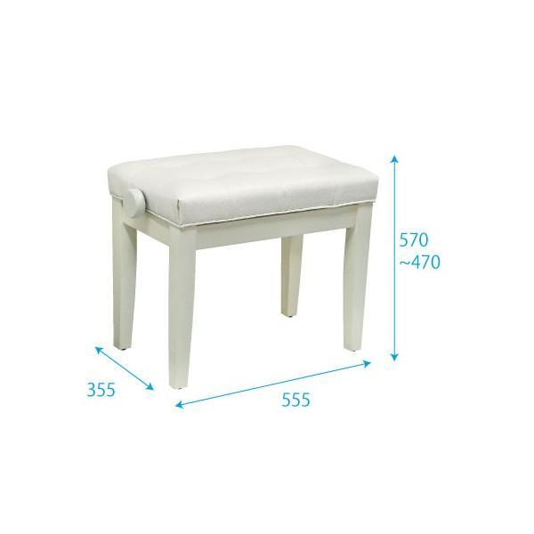 KIKUTANI キクタニ ピアノ椅子 ブラウン Piano Bench FS-201QZJ BRO ピアノベンチ 茶色 イス ピアノ用|soarsound|02