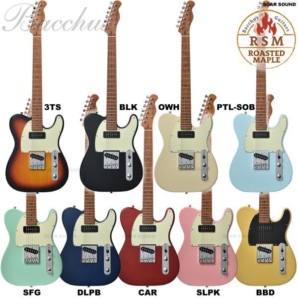 Bacchusバッカスローステッドメイプル採用BTE-2-RSM/Mテレキャスタータイプエレキギターユニバースシリーズギターエレ