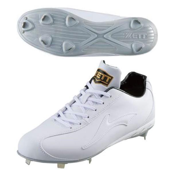 ZETT ゼット 野球 スパイク 白スパイク ウイニングロード BSR2296WH 1111 ホワイト 金具 熱中症対策 高校野球対応