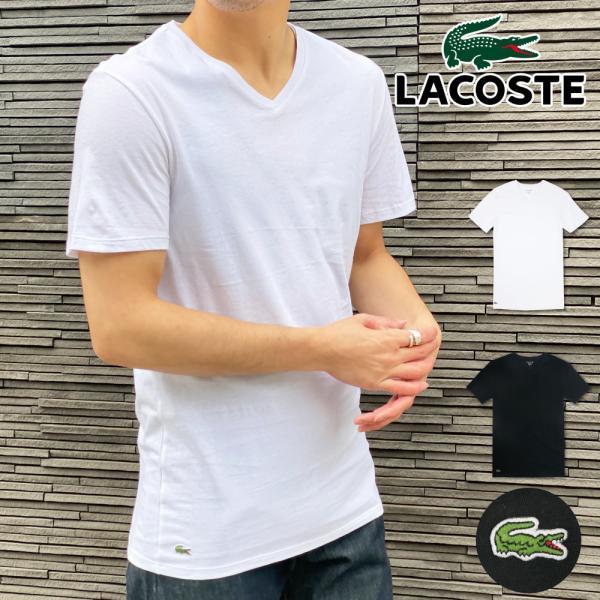 ラコステ LACOSTE メンズ MENS 半袖 コットン ワニ ワンポイント Vネック Tシャツ 大きいサイズ ブランド 男性用|socalworks