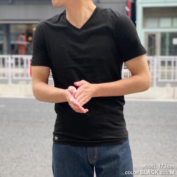 ラコステ LACOSTE メンズ MENS 半袖 コットン ワニ ワンポイント Vネック Tシャツ 大きいサイズ ブランド 男性用|socalworks|02
