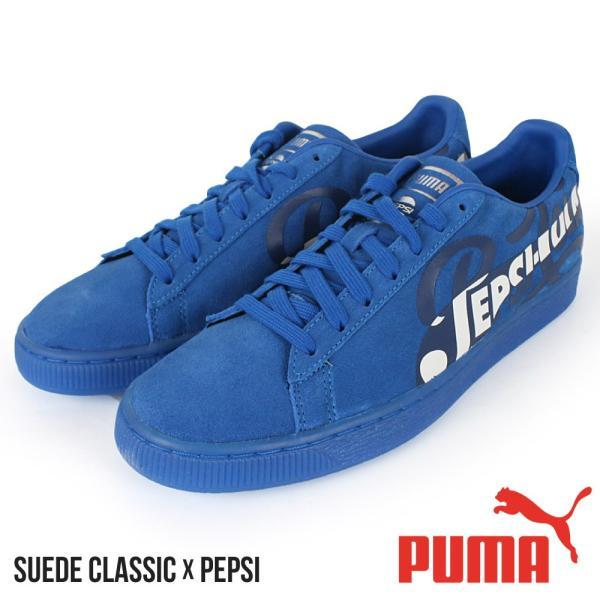 100% authentic d4e3b 87093 プーマ PUMA メンズ スニーカー Suede Classic x PEPSI スエード クラシック ペプシコーラ コラボ 個性的 ローカット  ブランド 靴 シューズ 大きいサイズ