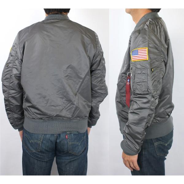 アルファ インダストリーズ ALPHA INDUSTRIES メンズ L-2B NASA ミリタリー フライト ジャケット アウター ブルゾン 長袖 米軍 宇宙 アメリカ ブランド 男性用|socalworksjg|02