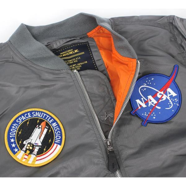 アルファ インダストリーズ ALPHA INDUSTRIES メンズ L-2B NASA ミリタリー フライト ジャケット アウター ブルゾン 長袖 米軍 宇宙 アメリカ ブランド 男性用|socalworksjg|03