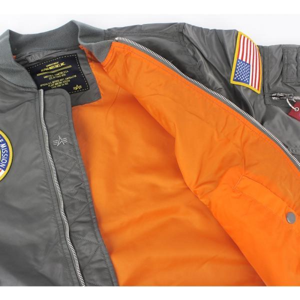 アルファ インダストリーズ ALPHA INDUSTRIES メンズ L-2B NASA ミリタリー フライト ジャケット アウター ブルゾン 長袖 米軍 宇宙 アメリカ ブランド 男性用|socalworksjg|04