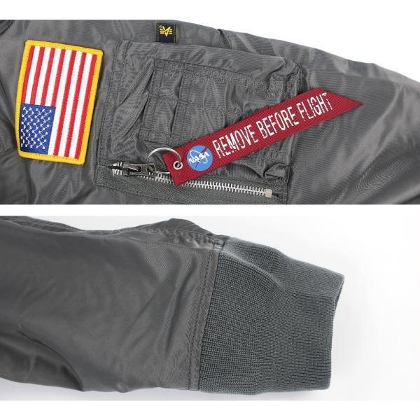 アルファ インダストリーズ ALPHA INDUSTRIES メンズ L-2B NASA ミリタリー フライト ジャケット アウター ブルゾン 長袖 米軍 宇宙 アメリカ ブランド 男性用|socalworksjg|05