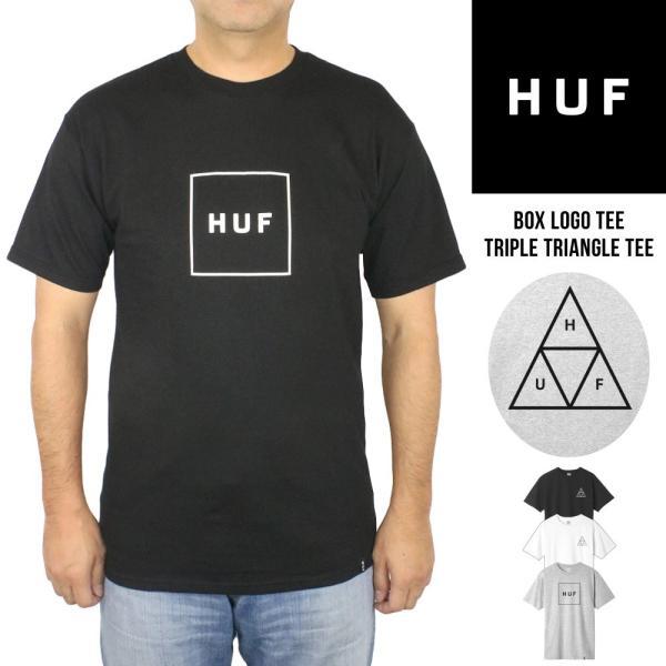 ハフ HUF メンズ 半袖 プリント Tシャツ Triple Triangle Tee Box Logo Tee トリプルトライアングル ボックスロゴ クルーネック ブランド おしゃれ 大きいサイズ|socalworksjg