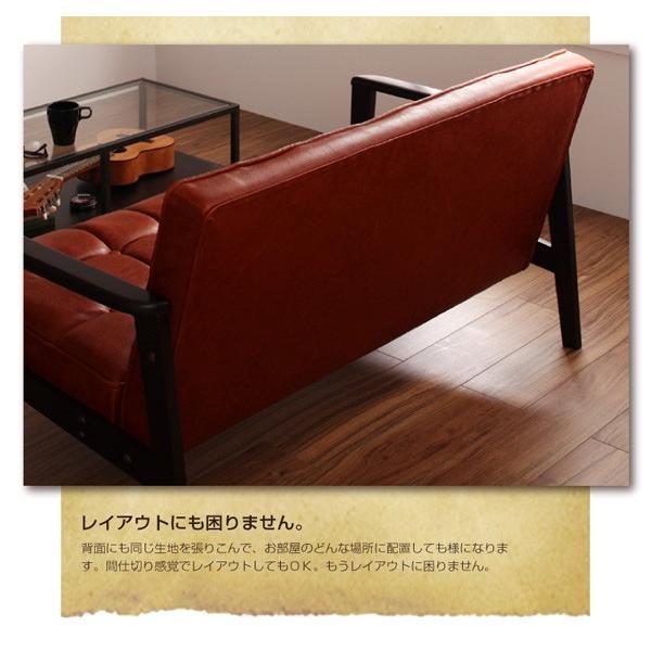 ソファー 1人掛け 合皮レザー カフェ風 レトロソファ 茶色|sofa-lukit|05