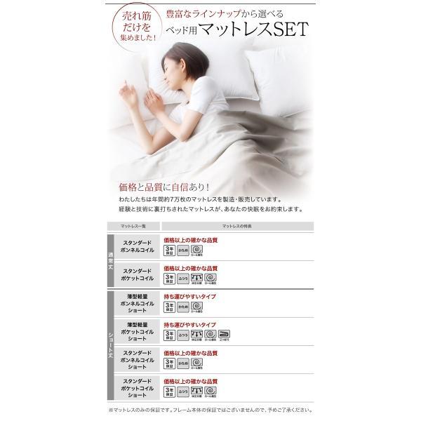 ベッドフレーム セミシングル 収納 引出付き 〔ショート丈〕|sofa-lukit|16