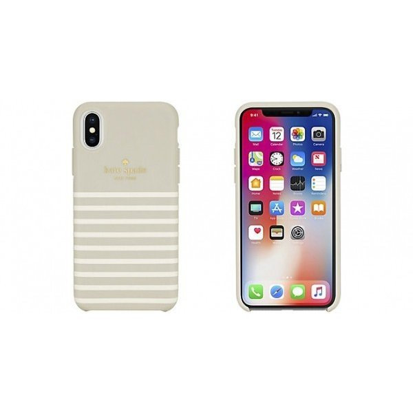 Kate Spade iPhoneXS iPhoneX ケース kate spade new york Protective Hardshell FEEDER STRIPE ケイトスペード スマホケース iphoneケース|softbank-selection|02