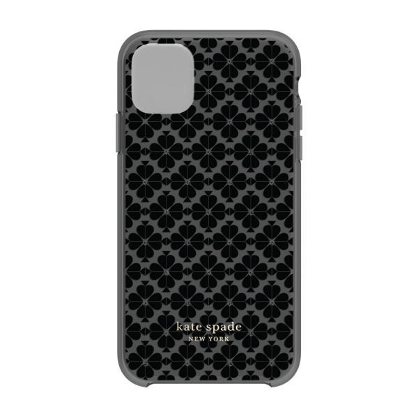 【アウトレット】 kate spade ケイトスペード iPhone 11 ケース カバー ブランド おしゃれ 黒 ブラック 花柄