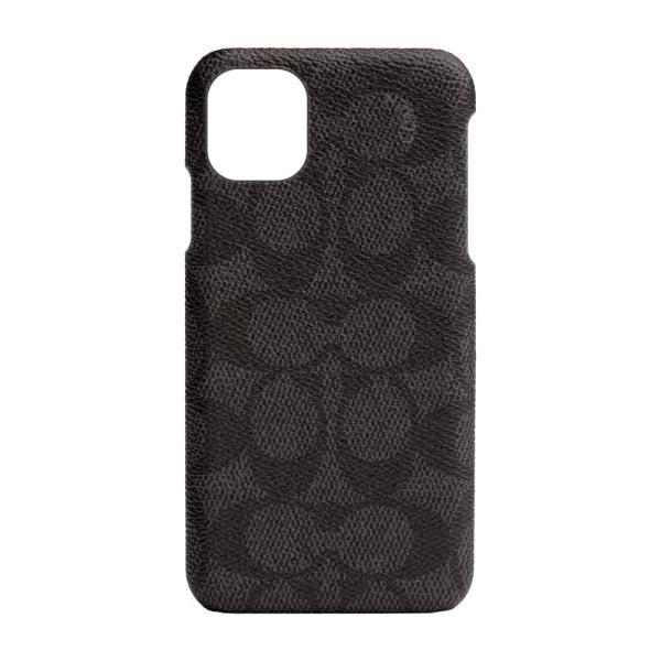 【アウトレット】 COACH コーチ iPhone 11 ケース カバー ブランド おしゃれ  SIGNATURE C WRAP ブラック 黒