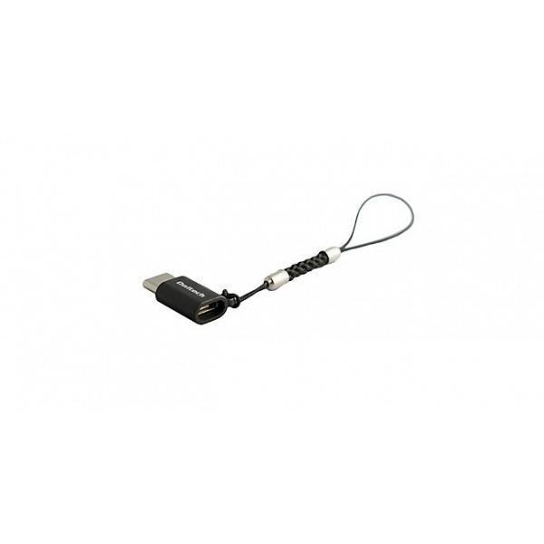 Owltech micro-USB メス / Type-C USB2.0 変換アダプタ 紛失防止ストラップ付 ブラック|softbank-selection|04