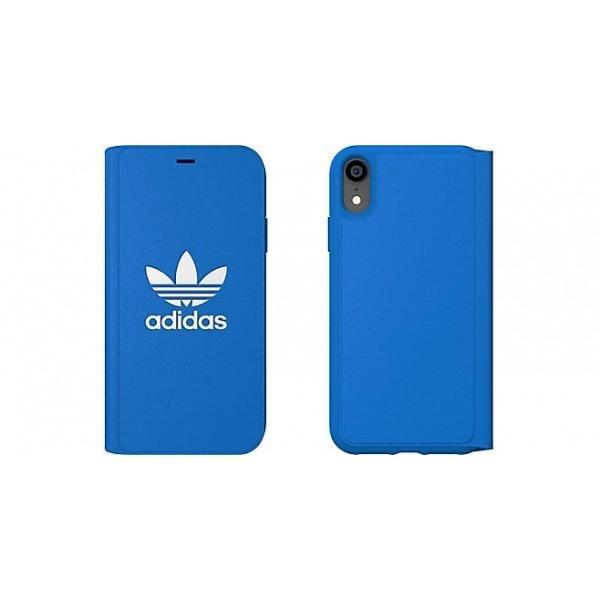 adidas iPhoneXR ケース 手帳型 OR Booklet Case CLASSICS TREFOIL FW18 ブラック/ホワイト|softbank-selection|02