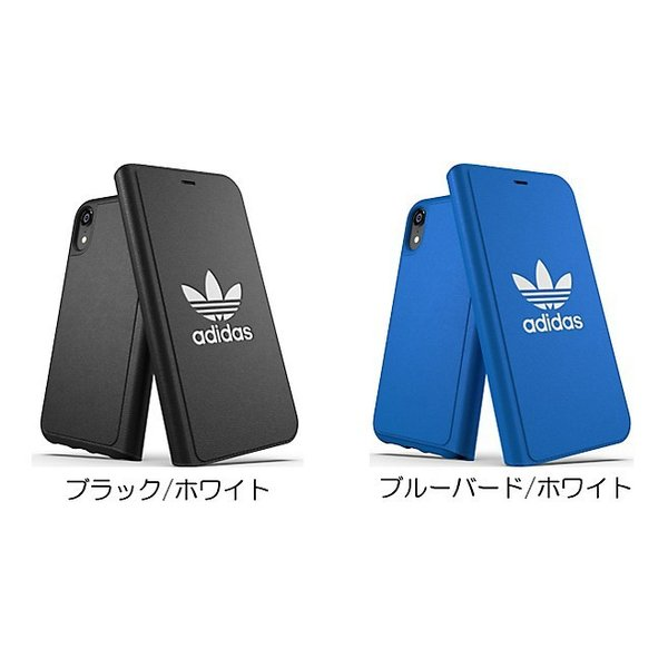 adidas iPhoneXR ケース 手帳型 OR Booklet Case CLASSICS TREFOIL FW18 ブラック/ホワイト|softbank-selection|11