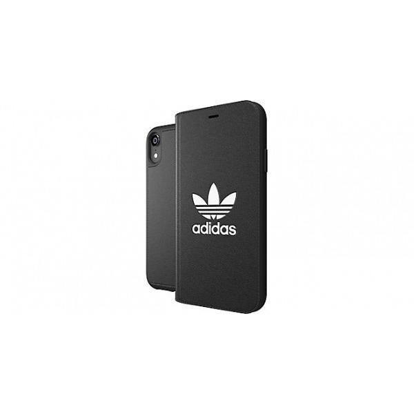 adidas iPhoneXR ケース 手帳型 OR Booklet Case CLASSICS TREFOIL FW18 ブラック/ホワイト|softbank-selection|03