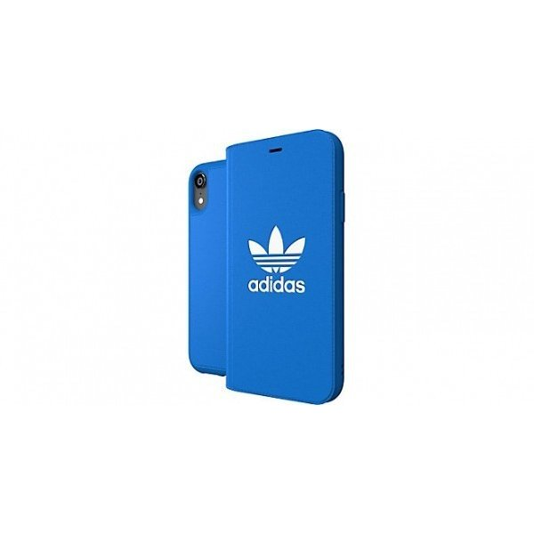 adidas iPhoneXR ケース 手帳型 OR Booklet Case CLASSICS TREFOIL FW18 ブラック/ホワイト|softbank-selection|04
