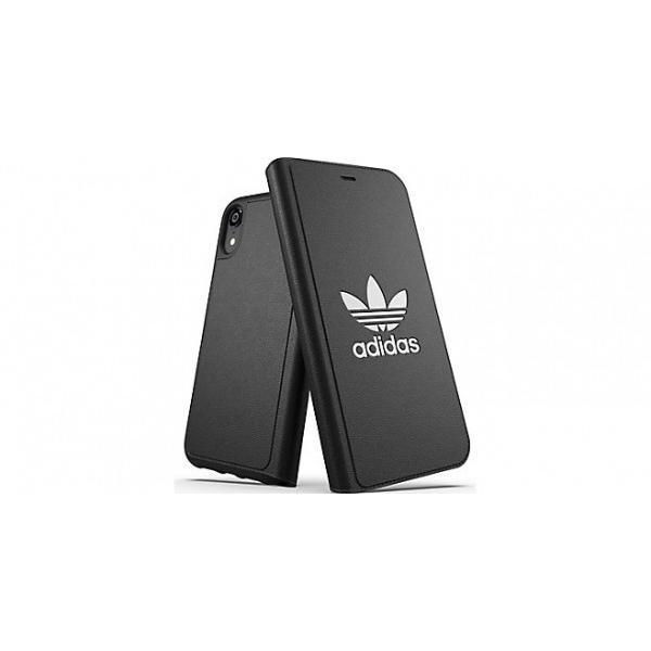 adidas iPhoneXR ケース 手帳型 OR Booklet Case CLASSICS TREFOIL FW18 ブラック/ホワイト|softbank-selection|05