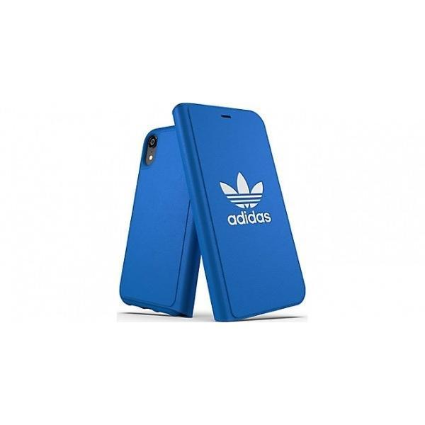 adidas iPhoneXR ケース 手帳型 OR Booklet Case CLASSICS TREFOIL FW18 ブラック/ホワイト|softbank-selection|06