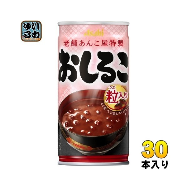 アサヒ おしるこ 190g 缶 30本入 〔おしるこ〕