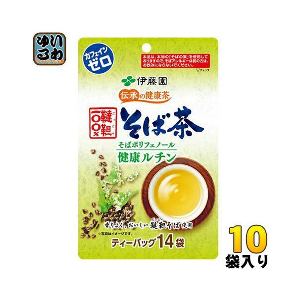 伊藤園 伝承の健康茶 韃靼100%そば茶 ティーバッグ 6.0g×14袋 10袋入〔お茶〕