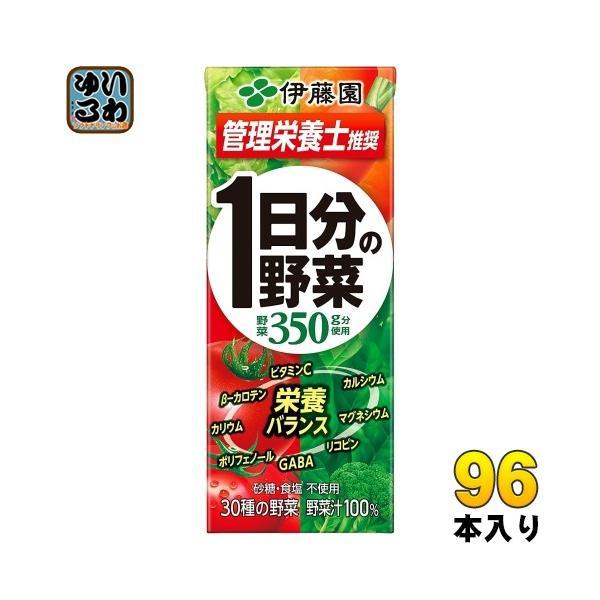 伊藤園1日分の野菜200ml紙パック96本(24本入×4まとめ買い)野菜ジュース