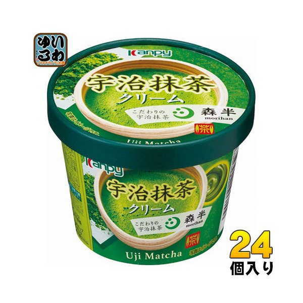 カンピー 宇治抹茶クリーム 140g 24個 (6個入×4 まとめ買い)