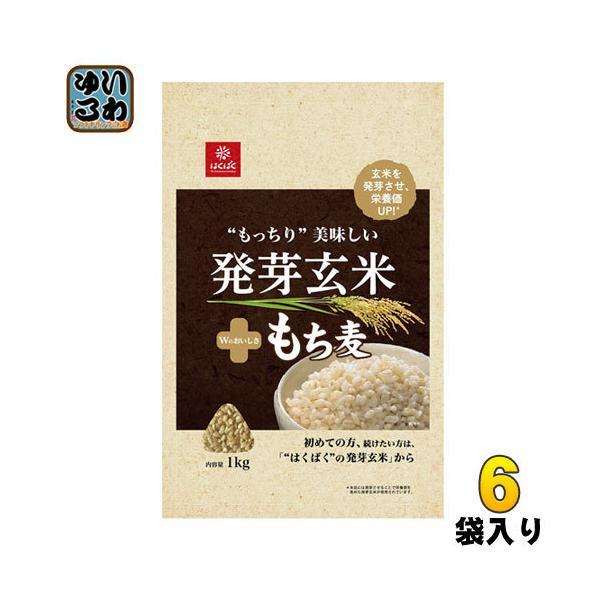 はくばく もっちり美味しい 発芽玄米+もち麦 1000g 6袋入〔玄米〕