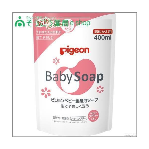 ベビー全身泡ソープフラワーの香り詰替400ml ピジョン【PI】